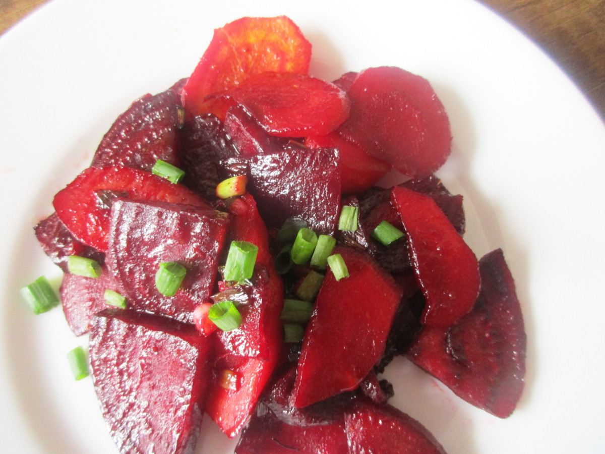 agave glazed beets and carrots