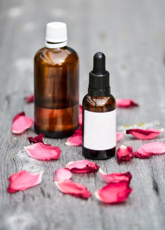 Rose Geranium Anti-Aging Oils and Butters for Skin Care