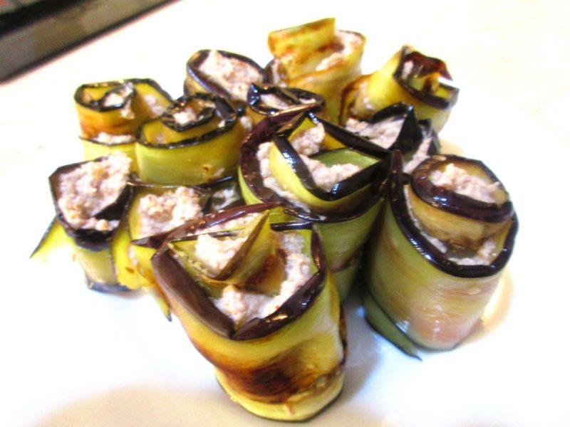 Georgian Eggplant and Walnut Rolls